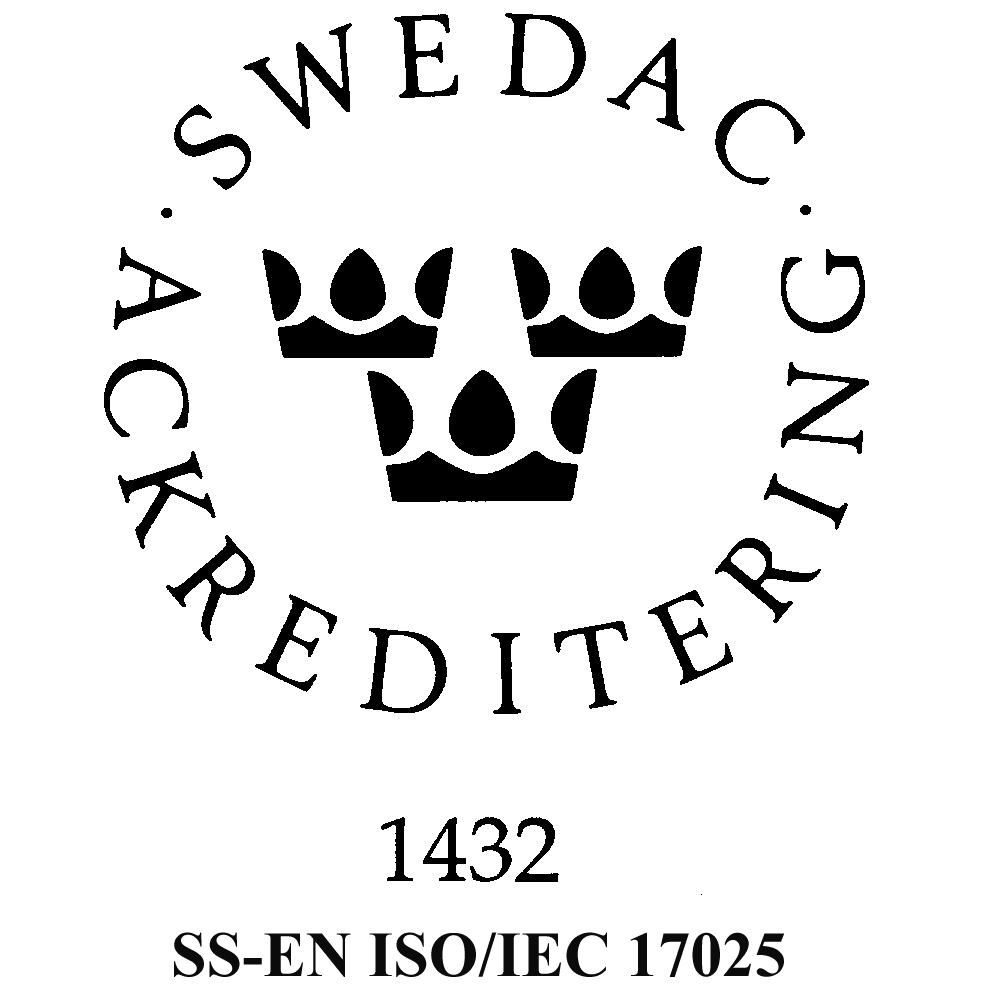 Certifikat Swedac Ackreditering